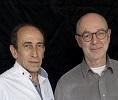 SOULIE François-Henri et BOURCY Thierry, ecrivains photographies a Paris